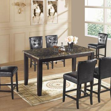 7 Piece Rectangular Counter Height Dining Set