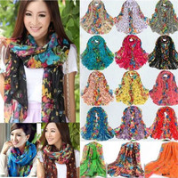 Fashion Women Long Print Cotton Scarf Wrap Ladies Shawl Girls Large Silk Scarves = 1930497668