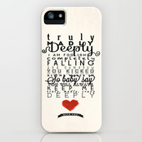 One Direction: Truly Madly Deeply iPhone Case by MaFleur | Society6