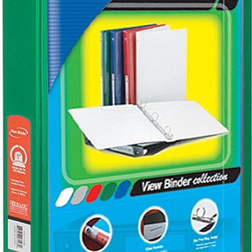 "BAZIC 1.5"""" Green 3-Ring View Binder w/2-Pockets Case Pack 12"
