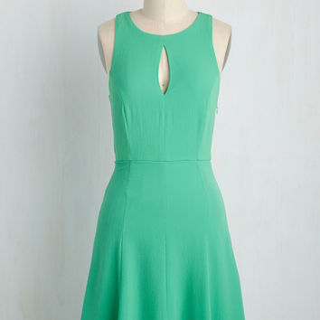 Keen About Keyholes Dress in Jade | Mod Retro Vintage Dresses | ModCloth.com