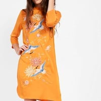 **Embroidered Midi Shift Dress by Glamorous