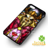 Disney Beast Stained Glass Beauty and The Beast -54R for iPhone 6S case, iPhone 5s case, iPhone 6 case, iPhone 4S, Samsung S6 Edge