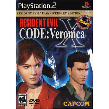 Resident Evil CODE Veronica X (Sony PlayStation 2, 2002) Complete 2 Disc Anniversay Ed