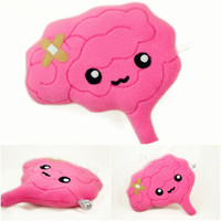 Brain plush toy / kawaii pillow
