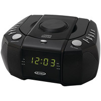 Jensen Dual Alarm Clock Am And Fm Stereo Radio With Top-loading Cd Player
