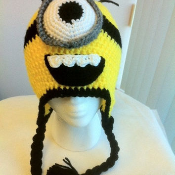 Crochet Critter Character Despicable Me One Eye by jjboutique