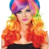 Leg Avenue Rainbow Rocker Wig