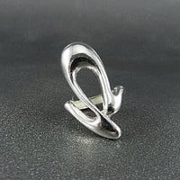 FASHION SILVER METAL ELASTIC RING