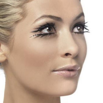 Top And Bottom Eyelashes Set - Black