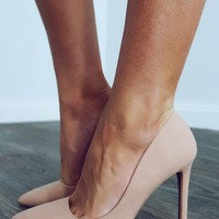 Her Own World Heels: Nude