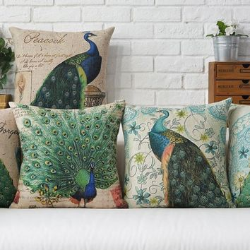 American Country Peacock Cushion