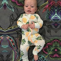 spring Baby pineapple print Jumpsuit Baby Boy Girl Clothes Newborn Baby Suit Baby Overalls Kids Costume Infant Cothing