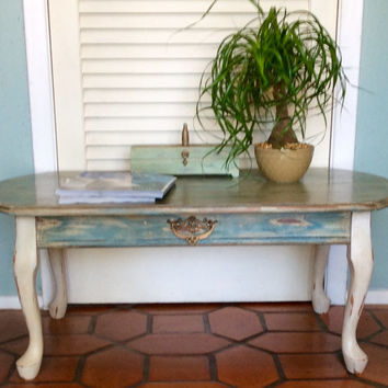 Blue Vintage Coffee Table