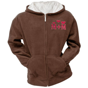 Mickey Mouse - Mickey & Minnie Women's Brown Zip Hoodie