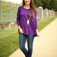 Piko Top - Dark Purple