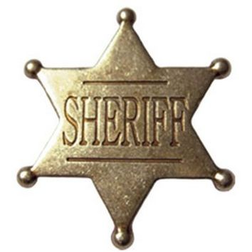 Deluxe Western Sheriff Badge