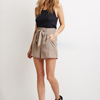 Self-Tie Ruffled Shorts