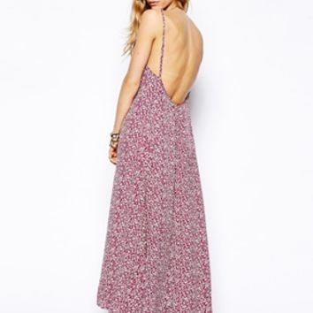 Flynn Skye Scoop Back Maxi Dress in Magenta - Magenta