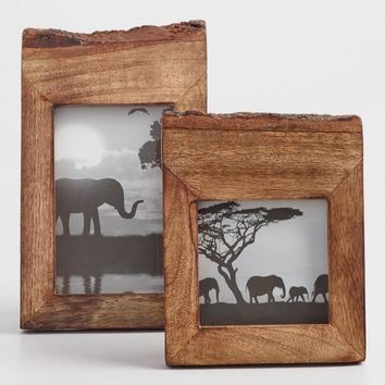 Raw Edge Wood Frame