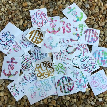 Pattern Monogram Decal / Decals / Sticker / Stickers