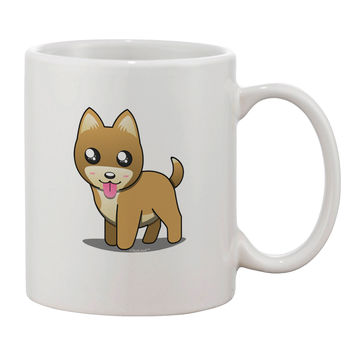 Kawaii Standing Puppy Printed 11oz Coffee Mug