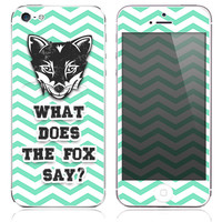 What Does The Fox Say? Print Skin for the iPhone 3gs, 4/4s, 5, 5s or 5c