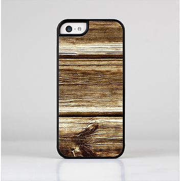 The Dark Highlighted Old Wood Skin-Sert Case for the Apple iPhone 5c