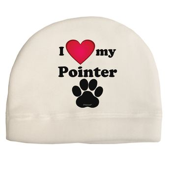 I Heart My Pointer Adult Fleece Beanie Cap Hat by TooLoud