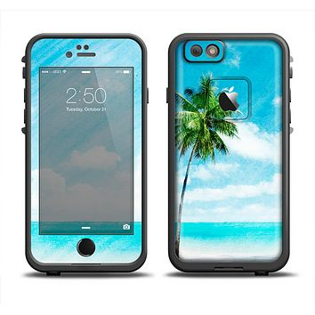 The Paradise Beach Palm Tree Apple iPhone 6 LifeProof Fre Case Skin Set