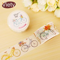 3cm*8m Cute Bicycle washi tape DIY decoration scrapbooking planner masking tape adhesive tape label sticker stationery