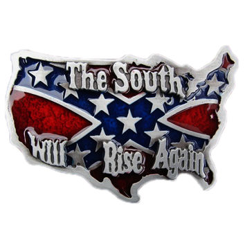 Rebel Flag South Will Rise Again Belt Buckle
