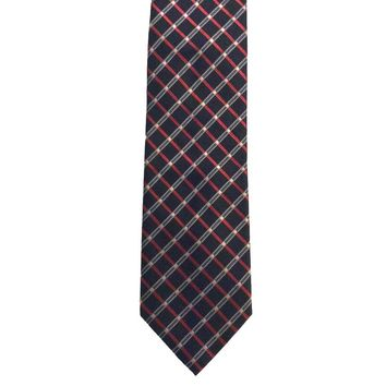 George Grid Wide Polyester Tie - Black