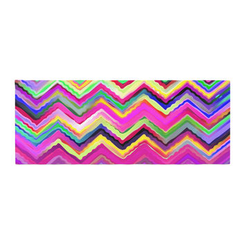 "Dawid Roc ""Colorful Chevron"" Purple Pink Bed Runner"
