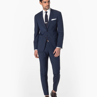 Navy Stripe Mayfair Fit Suit