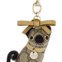 Gucci | Oliver Pug Dog embellished key chain | NET-A-PORTER.COM