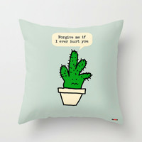 Cactus Decorative throw pillow cover - Message pillow cover - Modern pillow cover