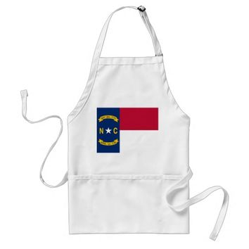 Apron with Flag of North Carolina, U.S.A.