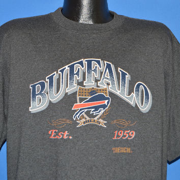 90s Buffalo Bills Black Striped t-shirt Extra Large