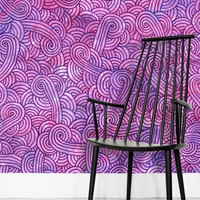 'Hot purple and pink swirls doodles' Wallpaper by Savousepate on miPic