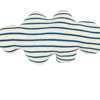 CLOUD shaped pillow -  wide stripes: black, blue, red or yellow