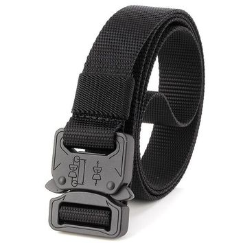 men's canvas belt Metal insert buckle military nylon Training belt Army tactical belts for Men Best quality male strap