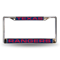 Texas Rangers MLB Laser Chrome Frame