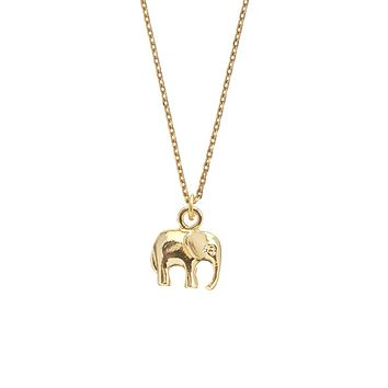 Elephant Necklace - Gold Plated