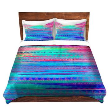 Duvet Cover Brushed Twill Twin, Queen, King from DiaNoche Designs by Nika Martinez Home Decor and Bedding Ideas - Ethnic Twilight