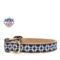 "Up Country Dog Collar - 5/8"" or 1"" width - Gridlock"