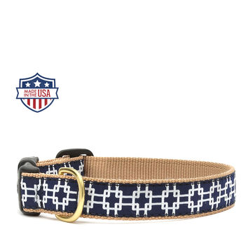 """Up Country Dog Collar - 5/8"""" or 1"""" width - Gridlock"""