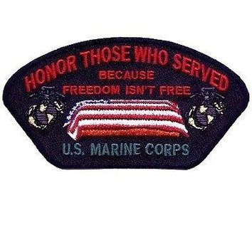 Honor Those Who Served MARINES USMC VET POW Military MC Biker Cap Patch PAT-0824