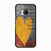 Yellow Submarine Beatles Song Lyrics Canvas For HTC One M9 case