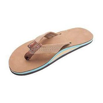 Men's Premier Blues Sandal in Sierra Brown w/ Blue Midsole by Rainbow Sandals